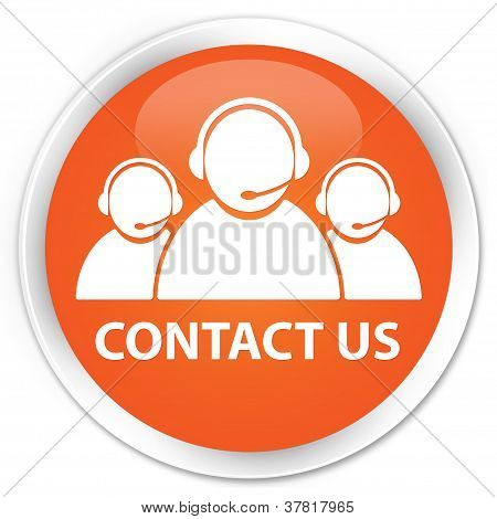 Contact Us Orange Button