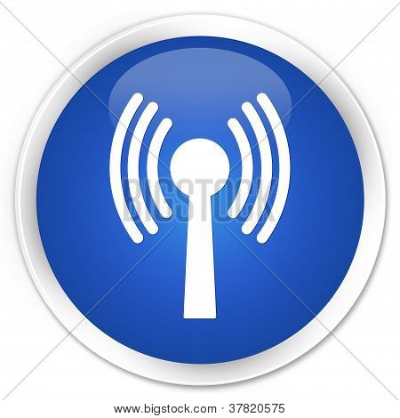 Wlan Network Blue Button