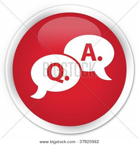 Question Answer Icon Red Button