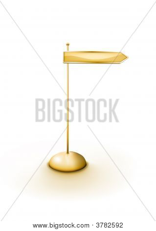 Golden Arrowed Direction Sign