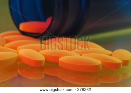 Pill With An Orange Glow