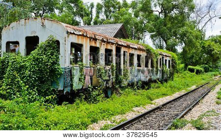 Old Abandoned Railroad Car
