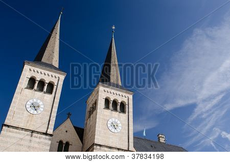 Church Of St. Peter Und Johannes Der T�ufer In Berchtesgaden