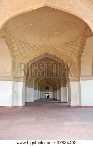 Archs In Akbar's Tomb