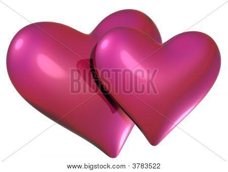 Red Rosa Herzen Objekte