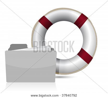 Lifesaver Sos Folder Illustration Design