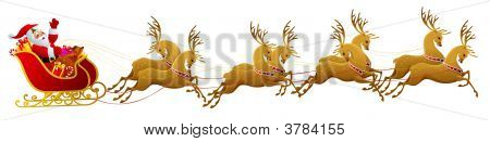 Santa Claus Sleigh Isolated