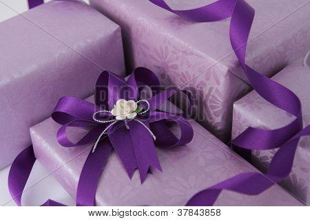 Purple Gift Box.