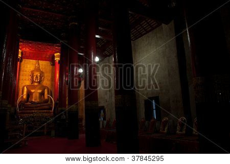 Ancient Buddha In Church .