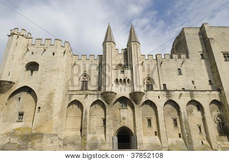 palace of the popes in Avignon France