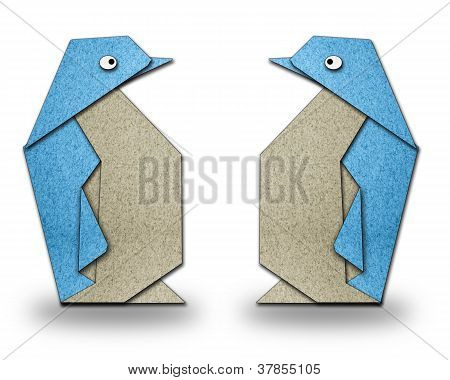 Origami Couple Of Penguin