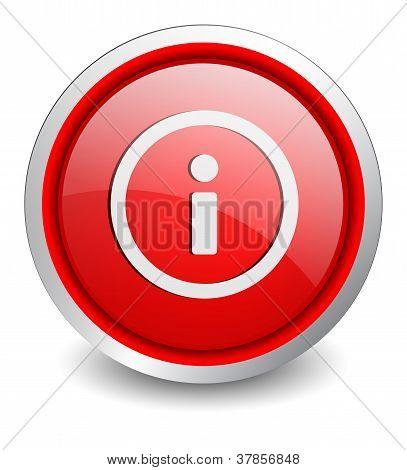 Info red button - design web icon