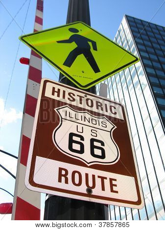 STREET SIGNS IN DOWNTOWN CHICAGO, ILLINOIS