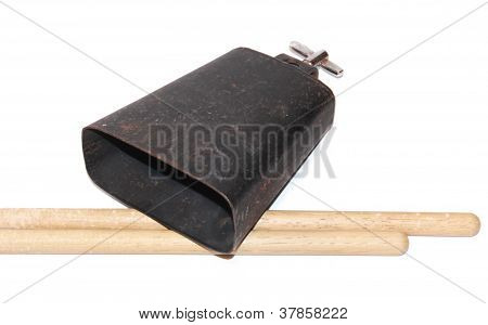 Cow Bell and Drum Sticks