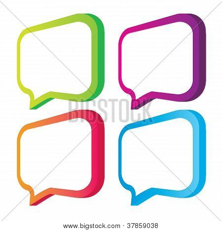 Vector illustration of colored bubbles on a white background