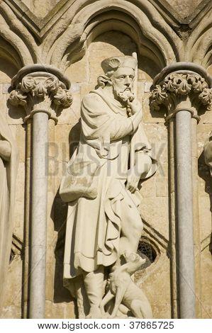 Saint Roch Statue, Salisbury Cathedral