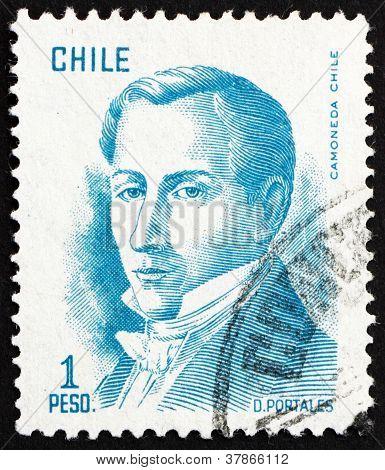 Postage stamp Chile 1975 Diego Portales,Statesman