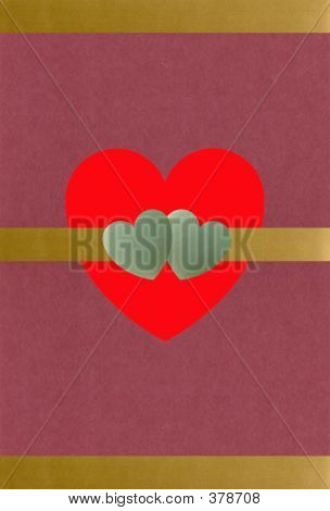 Gold And Jade Hearts Valentine