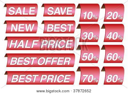 Sale Label And Price Tags
