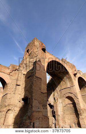 Termas de Carcalla en Roma, Italia