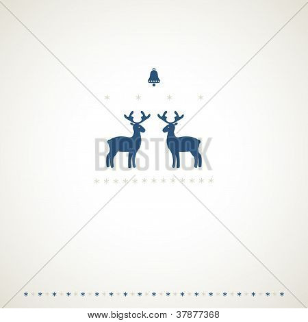 Winter Deers Background Background.eps