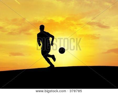 Soccer Silhouette 2