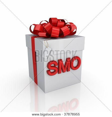 Gift box with a signature SMO.