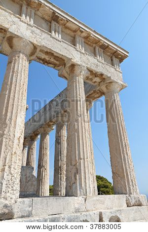 Ancient Greek temple at Aegina, Greece