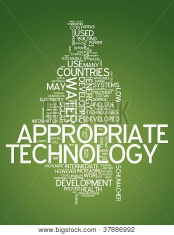 Word Cloud Appropriate Technology