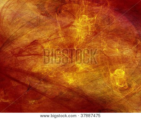 Textured Abstract Background in Orange and Reds