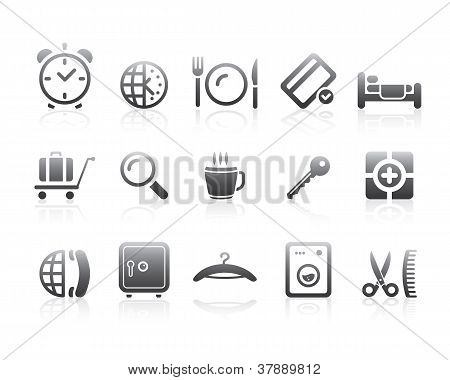 Hotel Symbol Icons Silhouette Series