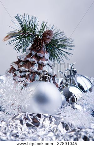 silver Christmas toys