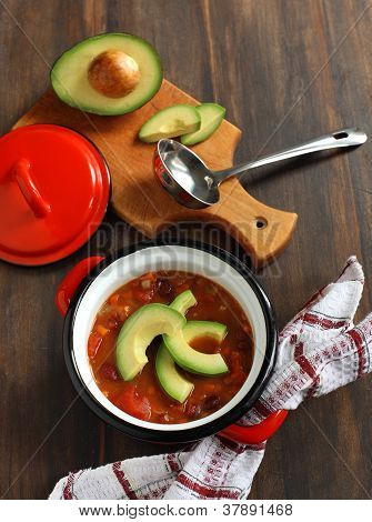 Vegetarian Chili Soup