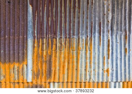 Background Of Old Metal Sheet
