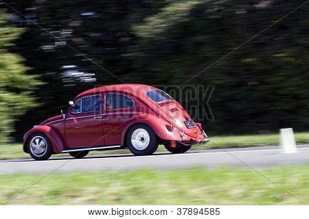Rushing Volkswagen Beetle
