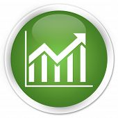 Statistics Icon Green Button