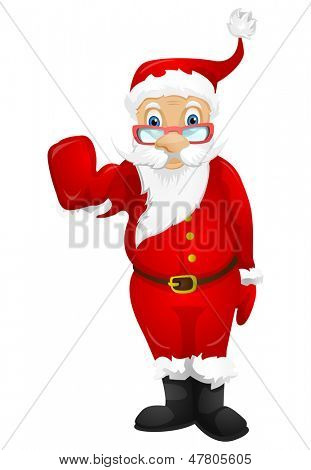 Cartoon Character Santa Claus Isolated on White Background. Vector EPS 10.