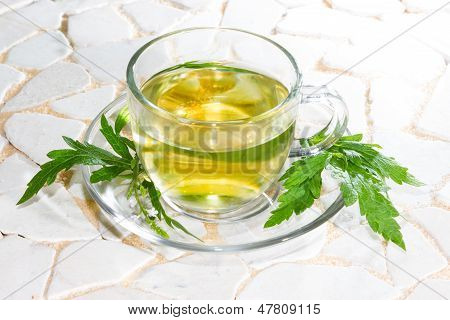 Verbena Officinalis Leaves And Herbal Tea