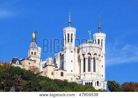Basilica Of Notre-dame De Fourviere In Lyon
