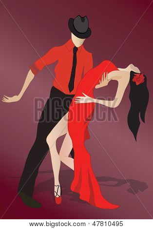 Salsa Dancing Couple