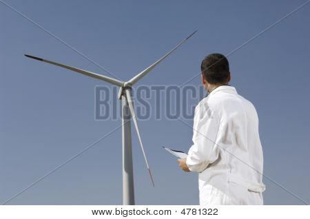 Engineer And Wind Turbines
