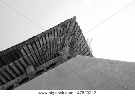 The Ancient Building Eaves In The Eastern Royal Tombs Of The Qing Dynasty, China