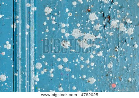 Detail Of Decaying Door With Paint Drops