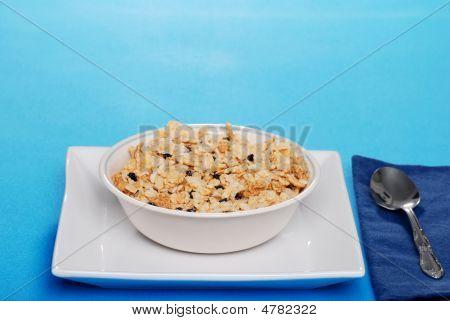 Cereais de pequeno-almoço com mirtilos