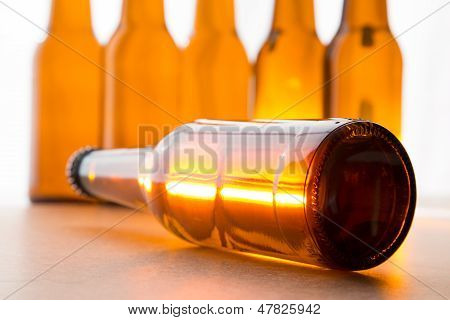 Shiny beer bottle