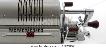 Detail Of An Old Calculating Machine