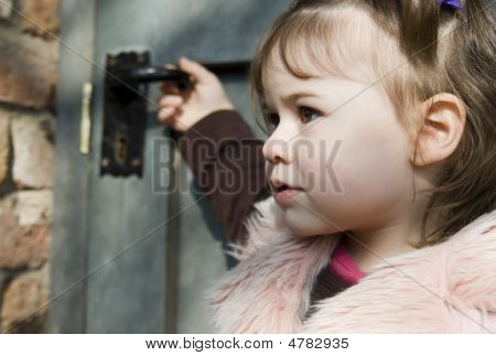 Girl In Front Of Door (2)