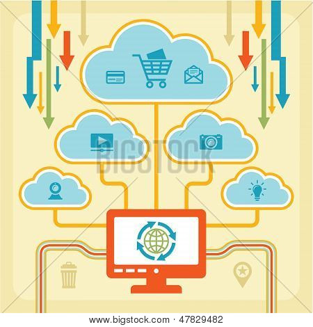 Infographic Concept - Internet Clouds