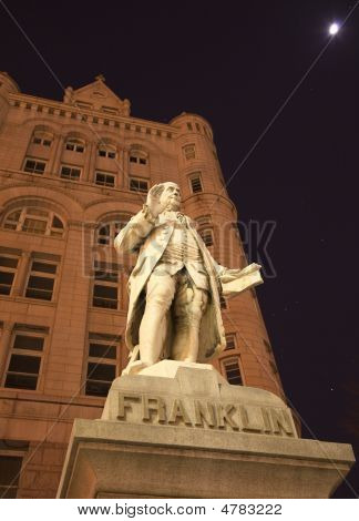 Benjamin Franklin Statue Old Post Office Building Washington Dc
