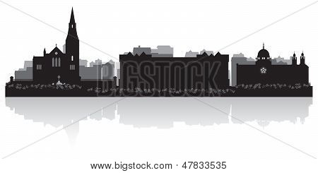 Galway City Skyline Vector Silhouette